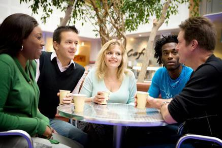 Do you ever meet friends at the mall to have coffee or something to eat so you can catch-up with what's happening in each other's lives?
