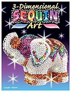 There are also 3D sequin art figures. What kinds of sequin art have you made (or would like to try making)?