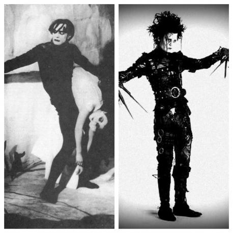 It is about an insane hypnotist who uses a somnambulist (sleepwalker) named Cesare, whom he keeps in a cabinet, to commit murders. The visual style is thought to have inspired Tim Burton's films, especially Edward Scissorhands. Does this sound like a movie that might interest you?