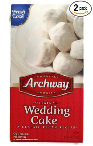 Have you ever eaten Archway's Wedding Cake cookies? My favorites!