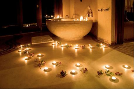 Have you ever used LOTS of candles to decorate a room for any occassion?