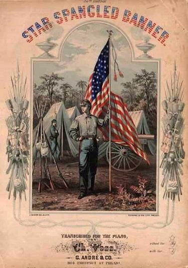 In indignation over the start of the American Civil War, Oliver Wendell Holmes, Sr. added a fifth stanza to the song in 1861 which appeared in songbooks of the era.