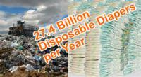 Disposable diapers are one of the items that are filling up the landfills. (Plastic bottles being another; but that's a WHOLE other story.) Would you go back to using cloth diapers to help the environment?