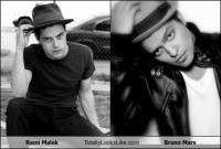 Does Rami Malek Totally Look Like Bruno Mars ?