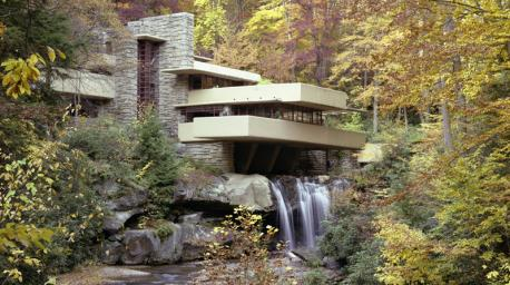 A U.S. National Historic Landmark, Falling Water is the granddaddy of all Wright's houses, his crowning achievement. You can visit the home, located in Mill Run, Pennsylvania. It is truly a sight to behold as you take in the nature around the house and hear the water rush below.