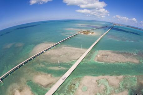 U.S. 1, Florida Keys---Take a drive on one of the world's longest bridges, the 7 Mile Bridge (11.26 km) that connects mainland Florida with the Florida Keys.