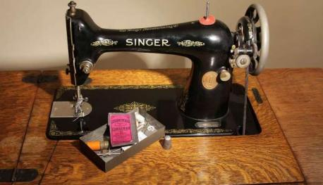 Singer Sewing Machine--- Valerie Prater of Jeffersonville, Ky., regularly uses her Singer sewing machine that dates from 1952 and was a flea market find by her mother. The model was called
