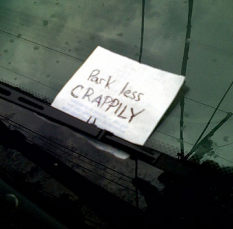 Windshield notes can be full of anger, humiliation, information, and/or amusement. Have you ever left a note on someones windshield?