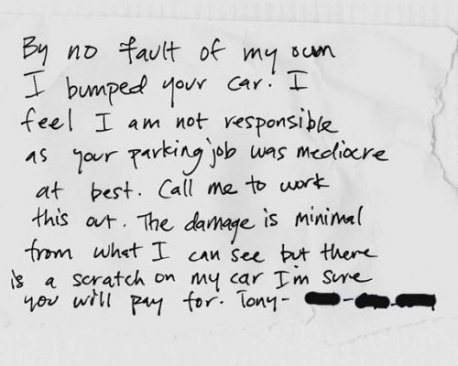 Have you ever been the lucky recipient of a note on your windshield?