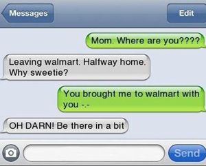 Okay ... funny text, serious question; have you ever 'forgotten' and left your child somewhere? (If 'yes,' hope they made it home safely after. You can ... or don't even worry about leaving that in the comments.)