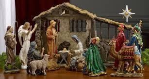 Do you have a nativity scene with figurines of the baby Jesus, his parents, the shepherds and the wise men?