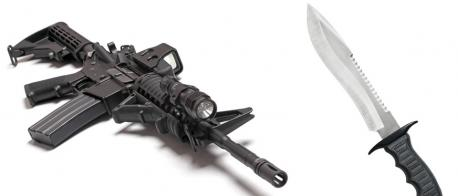 If someone were to ask you - which is responsible for more deaths in the United States - assault rifles or knives - which would you say?