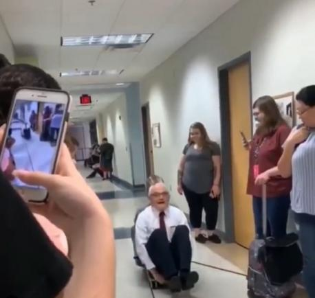 The Virginia Beach, Virginia, physics professor may be in his 70s, but he still manages to perform science demonstrations that would make someone half his age hesitate. Now, thanks to one student's tweet, David's epic stunts are going viral. Are you surprised at some of the things this 70-year-old professor was doing in the video?