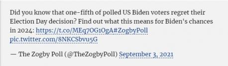 With more bad news for the Democrat Party, a new poll finds that even Democrats are regretting their vote for Joe Biden. Did you vote for Biden in the last U.S. presidential election?