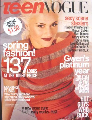 According to MTV.com, Scorsese was traveling in New York City when he saw a magazine cover featuring Gwen Stefani of the band No Doubt. Have you heard of Gwen Stefani?