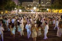 *Wiki*: Dîner en blanc phenomenon, which has taken place annually in Paris, France, since 1988, for one night around the end of June. The invited guests wear only white clothes and gather at a chosen spot, knowledge of which they have only a short time beforehand. They bring along food, drink, chairs and a table and the whole group then gathers to have a meal, after which they disperse. The event has been held each year in different places in the centre of Paris. It is not a normal cultural event because it is not advertised and only those who have received an invite attend - information on the chosen location is transferred by text message or more recently Twitter. The number of people attending has grown, in 2011, to over 10,000.[2] Dîner en blanc would be considered a smart mob rather than a flash mob, because the event lasts for several hours. Which of the following were you aware of before this survey?