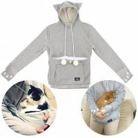 There are now hooded sweatshirts that come with pouches in the front for pet owners to transport their pets in. How do you like this idea?
