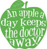 Last question: Do you believe, even if a bit, that an apple a day keeps the doctor away?