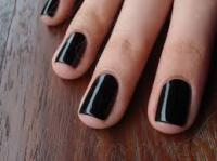 Declining health and YOLO (you only live once) I chose black instead of red for my nail color at manicure time. What do you think of the color for nails?