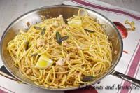 Most people love spaghetti! My stepdad's family hails from Asiago, the right north corner of Italy. They are more for butter, olive oil & garlic, and white sauce than red sauce. Having said that, I am not a big fan of red sauce. How about you? What is your go to sauce when it comes to spaghetti?