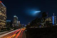 So last night LA had a little surprise in the sky. The USS Kentucky navy submarine, according to the San Diego Union-Tribune. Navy Cmdr. Ryan Perry addressed the scheduled evaluation test, noting in a statement that they are frequently conducted—