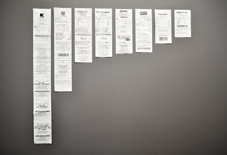 *AdWeek* American retailers crank out 1.4 billion pounds of paper receipts each year, so 8 stores were visited where 1 package of trident gum was purchased. Then the lengths of the receipts were measured. You can see by the photo that Kmart issued a receipt 2 feet long (for the longest) and CVS 5 inches for the shortest. So, basically (not all stores responded) what was learned is that the receipt is the store's last chance to engage with the customer; offering coupons, a chance to answer survey questions, etc. Now, please check off what is true for you: