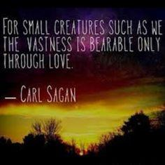 Are you a Carl Sagan fan and have you read any of his books?