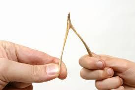 If you did not know but use chopsticks, were you pulling them apart like you would a wishbone?