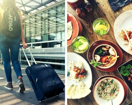 Would you rather go travel or eat good food to cure your dismay?