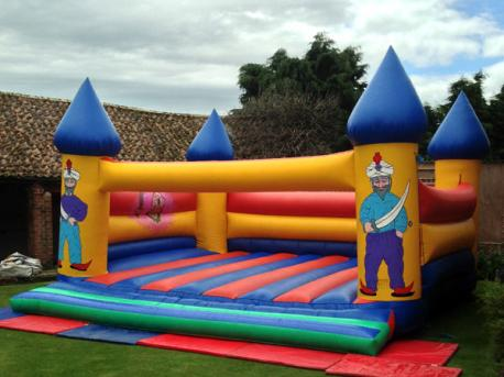 Have you ever seen bouncy castles or slides like these at a friend's party or community event?