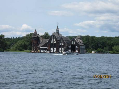 When touring the castle and the grounds you can also visit the boat house, would you agree that this structure is as impressive as the castle itself?