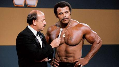 Did you know that Rocky Johnson was the father of Dwayne (The Rock) Johnson? (image courtesy of: CBS Sports)