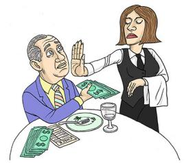 What do you think of the growing trend to eliminate tipping in restaurants?