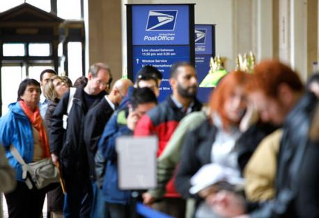 Are there unusually long lines at your post office?