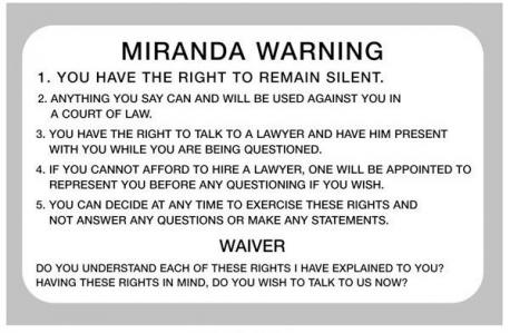 Do you know your Miranda rights?