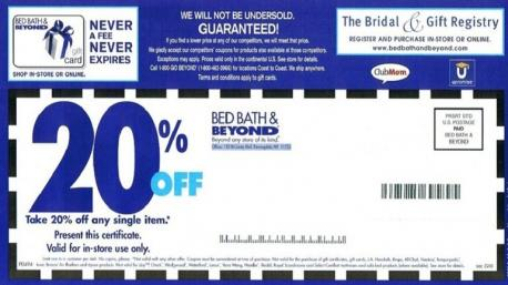 Do you think Bed, Bath & Beyond should do away with their 20% coupon?