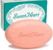 But I did recognize one product: SweetHeart soap. Now, it's safe to say, this pretty