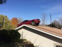 Maybe this is a Michigan thing, but every few weeks on the news I hear about a vehicle hitting a house! Today's story was a little different...the vehicle ended up on the roof! Have you ever crashed into a house before?