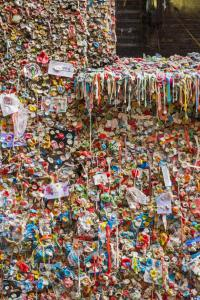 For 20 years, people have been sticking their gum to the walls of an alley by Seattle's Pike Place Market. Known as the