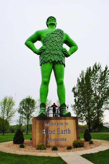 In the city of Blue Earth, Minnesota, stands a 55-foot fiberglass statue of the Jolly Green Giant. The statue was first unveiled in 1978, and was set on its permanent base on July 6, 1979. The statue attracts over 10,000 visitors a year. Have you ever visited this statue?