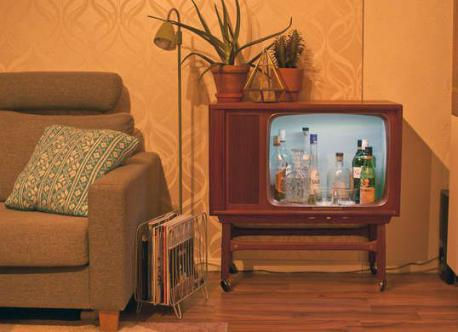 Would you consider taking an old TV and turn it into a mini bar?