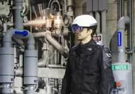 Intel shows off a kind of X-ray vision by letting a worker see through pipes that might be faulty, which can be picked up by its RealSense camera. The helmet could also be used to give workers digital directions on top of what they're looking at when doing manual labor. Do you think this technology makes a job easier?