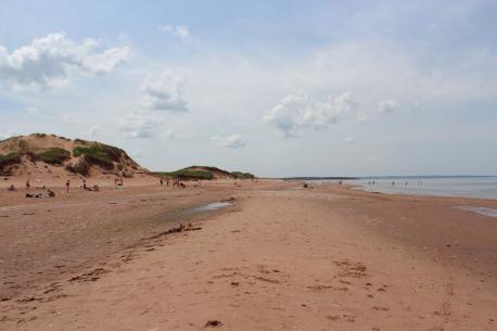 Prince Edward Island, Souris - Singing Sands Beach - The perfectly shaped silica and quartz sand makes the