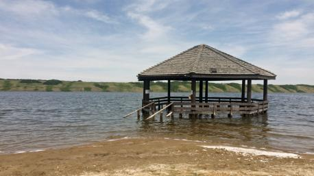 Saskatchewan, Little Manitou Lake - Manitou Beach - The Prairies' answer to the Dead Sea, this resort village draws people looking for a relaxing spa getaway at a unique site. Bathers