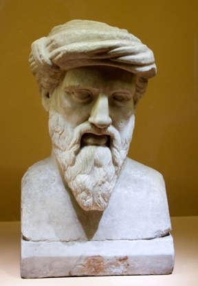 Pythagoras - What we know of Pythagoras doesn't add up. The number-obsessed ancient Greek is supposed to have developed the Pythagorean Theorem, still used in math class today. But all references to him come from his followers and were mixed with all kinds of supernatural and mythical elements, raising suspicions. Even his theorem may have been known by Egyptians much earlier. Do you think this was a real person?