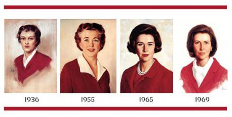 Lastly, Betty Crocker - She was born in 1921, when an ad for Gold Medal Flour was placed in the Saturday Evening Post. The last name, Crocker, came from the recently retired director of Washburn-Crosby, William G. Crocker. Betty was chosen as a first name for its wholesome, cheerful sound. In 1924, Betty went from signing letters to having a real voice when Washburn-Crosby began airing a cooking radio show. In 1951, Washburn-Crosby put a face to the name and the voice when they hired actress Adelaide Hawley to act as Betty on television. Since 1955, Betty's image has been updated seven times. For her 75th anniversary in 1996, painter John Stuart Ingle gave her an olive skin tone that could belong to a wide range of ethnicities. Ingle created this version of Betty by digitally morphing photographs of 75 women that General Mills felt embodied the characteristics of Betty Crocker. Did you know this person was a fantasy?
