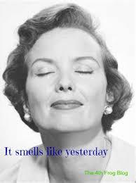 The other day I was in the mall and a lady in front of me smelled exactly like my Grandma did. She was wearing a perfume that took me back over 10 years ago when my Grandma was alive, so much so I started to tear up. Have you ever caught a whiff of a scent that takes you back to your much younger days?