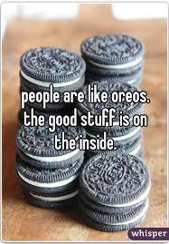 I love the message of this song -- even though I know it's really just about Oreos. The song says we should not judge people based on what they look like, and instead let our curiosity allow us to find out who they really are. Do you feel it's a positive message illustrated in a fun way?