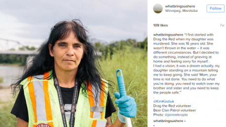 What Brings Us Here is an Instagram photo essay designed to shed light on Aboriginal activism in Winnipeg, where there is a big community. This project is designed to tie in with Drag The Red, the volunteer-run organization that searches the river for clues relating to missing Aboriginal people. This campaign could explore the everyday of things as they unfold, focusing more on what is and needs to be done. The group responsible for this project believe that by sharing stories and photos, the attention can only help these cases. Have you heard about this Instagram campaign?
