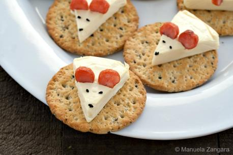Have you ever had a tiny cheese mouse and cracker canape?